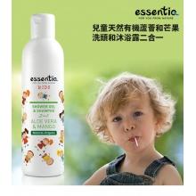 伊森緹儿童二合一洗发水沐浴露(芦荟和芒果)250ml/瓶