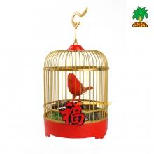 新年声控鸟笼擺設
