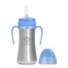 Grosmimi - 不锈钢吸管杯(天蓝色)