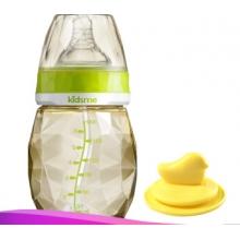 PPSU Diamond Wide Neck Milk Bottle 240ml without Handle and Tube-Aquamarine PPSU钻石宽口径钻石奶瓶无手柄无吸管240m