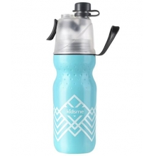 16 OZ Cool Spray Water Bottle-Aquamarine 石墨烯喷雾水杯500ml活力款-蓝色