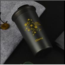 400ml Wonderful Life Cup-Black 石墨烯双层滑盖水杯400ml-墨岩黑