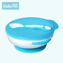 """Suction Bowl with Ideal Temperature Feeding Spoon Set - Lavender 吸盘碗+变色匙梗(红色)"""