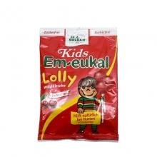 德国进口索丹EM-eukal 儿童咳嗽棒棒糖宝宝无糖润喉糖樱桃味薄荷