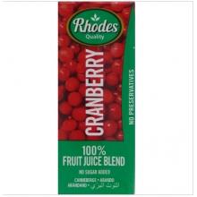 Rhodes 100%蔓越莓混合果汁 200毫升