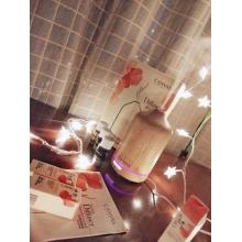 橡木磨砂玻璃遥控香熏喷雾器(浅啡)