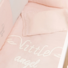 婴儿床上用品套装-小天使粉红