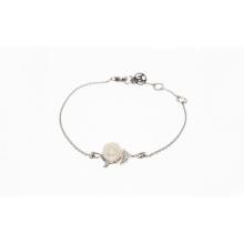 「白玫瑰珍爱」镀铑纯银手链