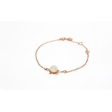 「白玫瑰珍爱」18K玫瑰金镀银手链