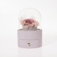 浪漫粉色永生花珠宝盒