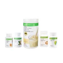 Herbalife 康宝莱 體重控制套裝 包括 消脂片®, 抗脂丸, 美纖片, 野草莓味营养蛋白素, 天然瓜拉拿茶