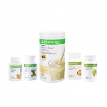 Herbalife 康宝莱 體重控制套裝包括 消脂片®, 抗脂丸, 美纖片, 营养蛋白素朱古力味, 天然瓜拉拿茶