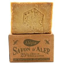 传统婀勒颇古皂- 橄榄油、含25%月桂油